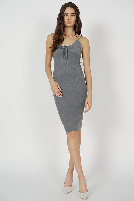Johan Cami Dress in Grey - Arriving Soon
