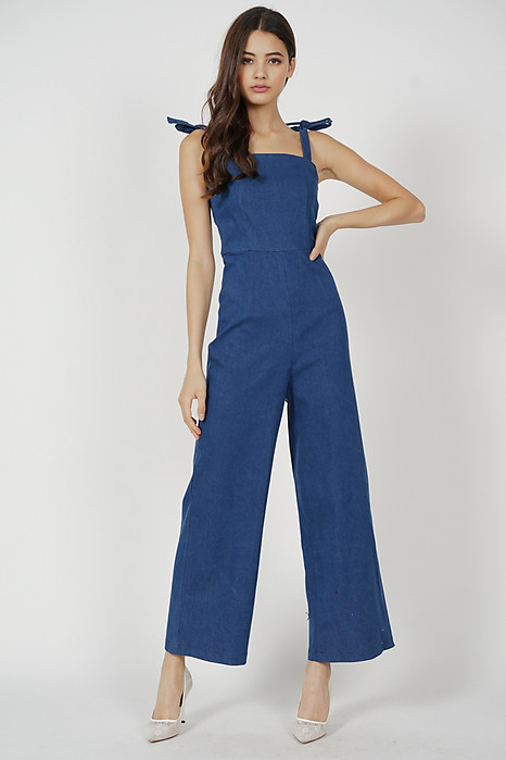 Sabin Jumpsuit in Blue Denim