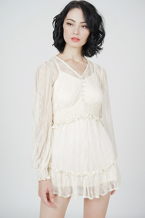 Elgen Lace Romper in Cream - Arriving Soon