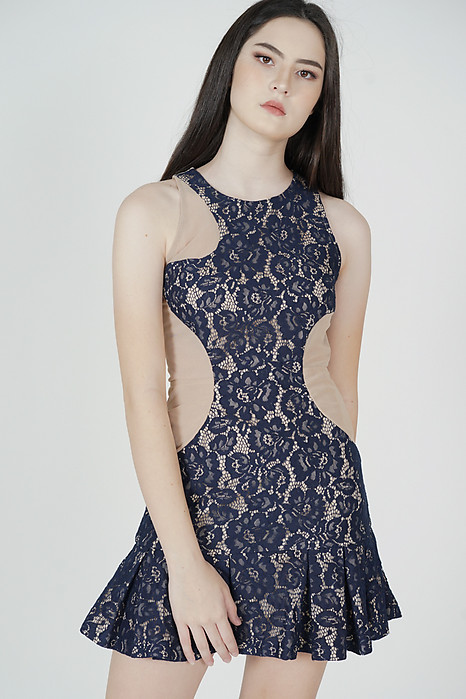 Kayleigh Lace Dress in Midnight - Arriving Soon