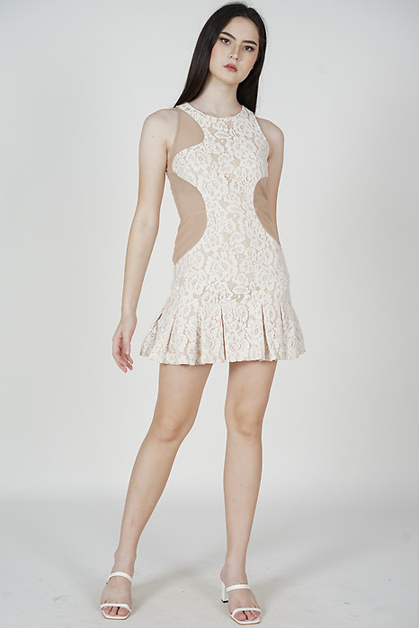 Kayleigh Lace Dress in White - Arriving Soon