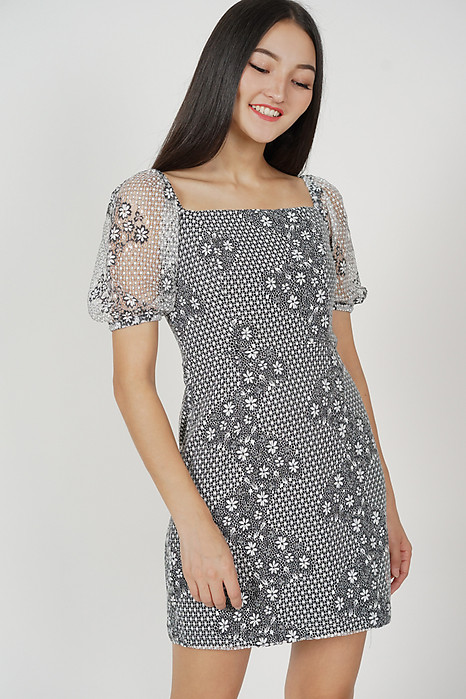 Moeza Lace Dress in Black