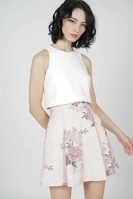 Aurelie Overlay Dress in Blush Floral