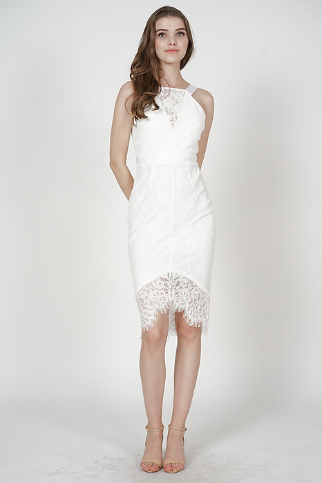 Bridget Lace Dress in White - Arriving Soon