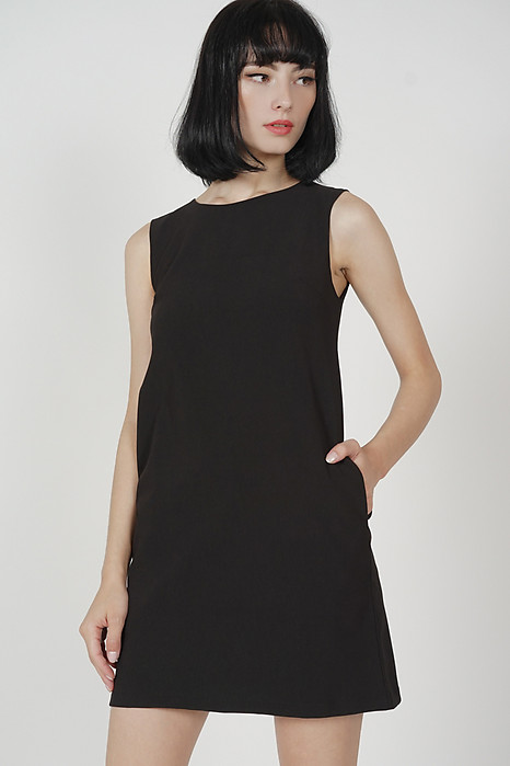 Khloe Shift Dress in Black