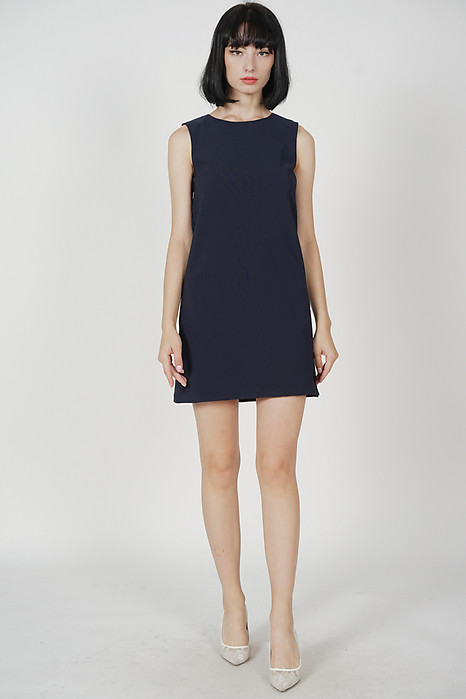 Khloe Shift Dress in Midnight