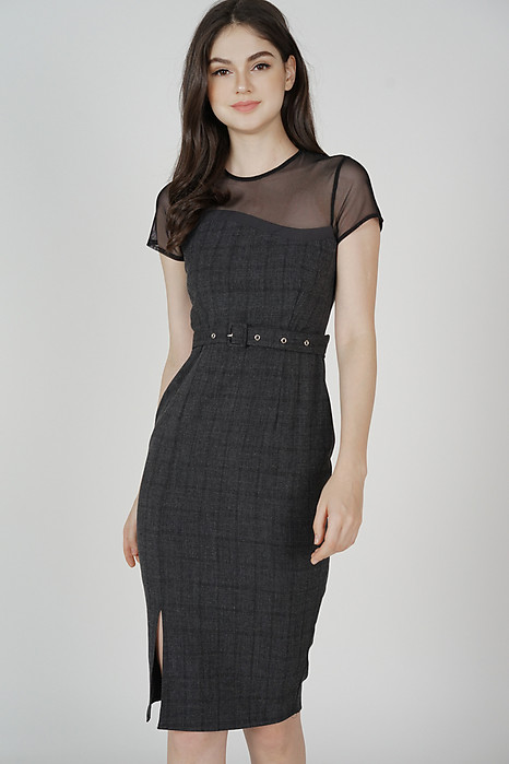 Evonna Midi Dress in Black - Arriving Soon