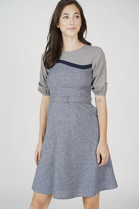 Tadeo Buckled Dress in Grey - Arriving Soon