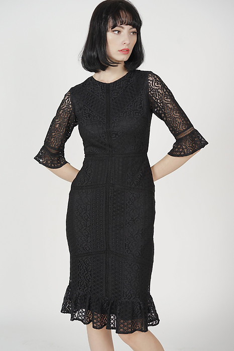 Kadley Lace Dress in Black