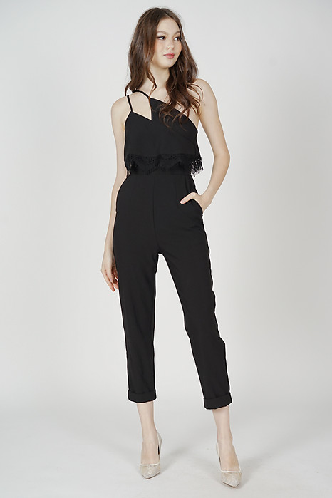 Azora Toga Jumpsuit in Black - Arriving Soon