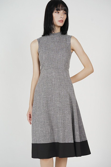 Houston Flared Dress in Dark Grey - Arriving Soon