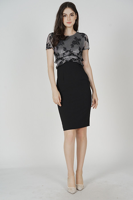 Idalia Lace Dress in Black - Arriving Soon