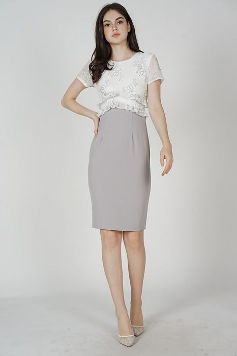 Idalia Lace Dress in White - Arriving Soon