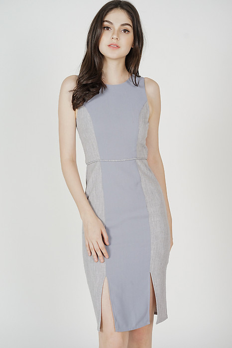 Balen Fitted Dress in Ash Blue - Arriving Soon