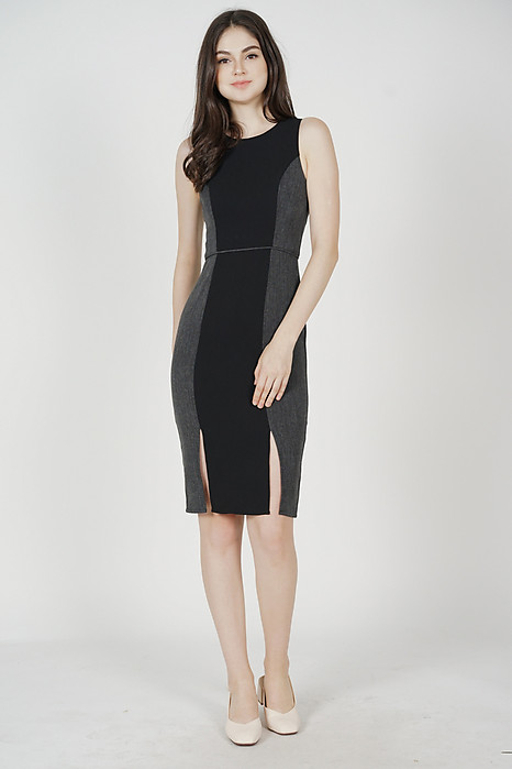 Balen Fitted Dress in Black - Arriving Soon