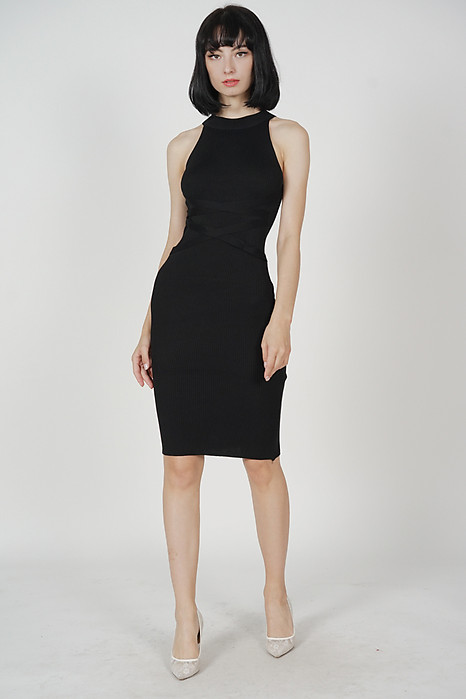 Juliet Knit Dress in Black - Arriving Soon