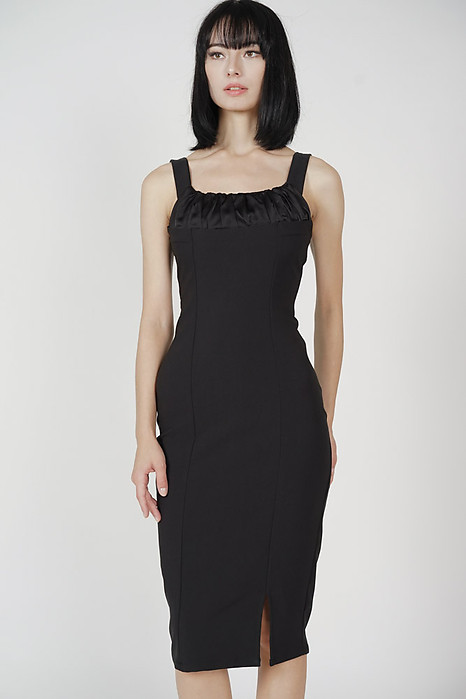 Putria Midi Dress in Black - Arriving Soon