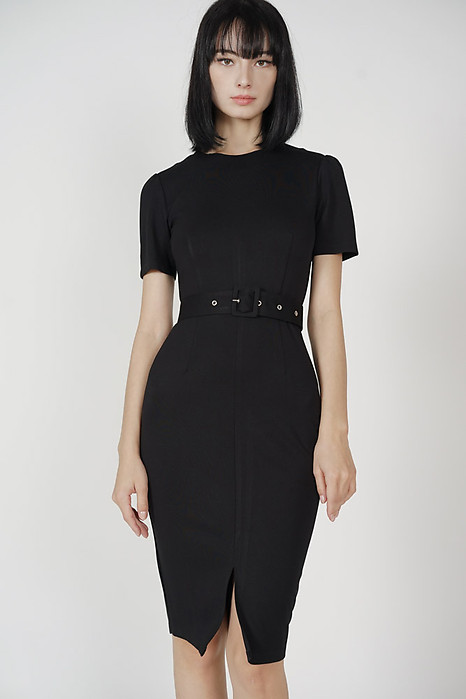 Murua Slit Dress in Black - Arriving Soon