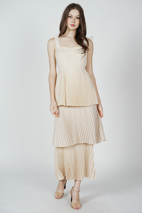 Marsko Tiered Dress in Cream - Arriving Soon