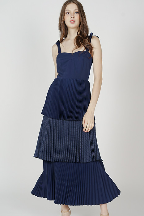 Marsko Tiered Dress in Midnight - Arriving Soon