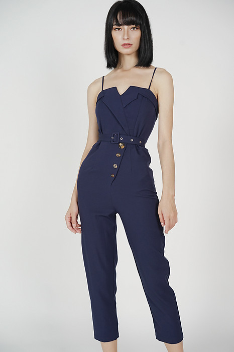 Diadra Buttoned Jumpsuit in Midnight - Arriving Soon