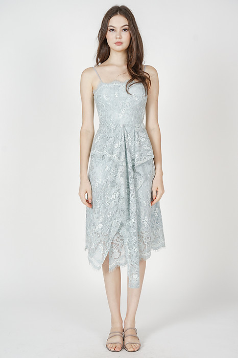 Gwenith Lace Dress in Ash Blue - Arriving Soon