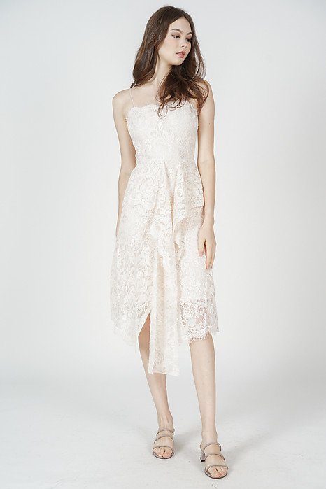 Gwenith Lace Dress in Cream - Arriving Soon
