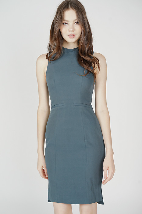 Jabez Midi Dress in Dark Teal - Arriving Soon