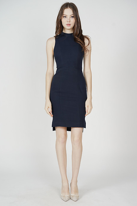 Jabez Midi Dress in Midnight