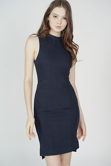 Jabez Midi Dress in Midnight - Arriving Soon
