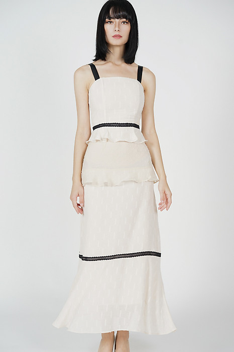 Dagmar Ruffled Dress in Cream - Arriving Soon