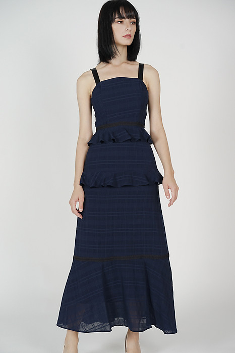 Sarelia Ruffled Dress in Midnight - Arriving Soon