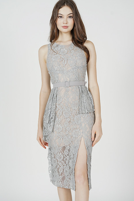 Dorothy Lace Dress in Ash Blue - Arriving Soon
