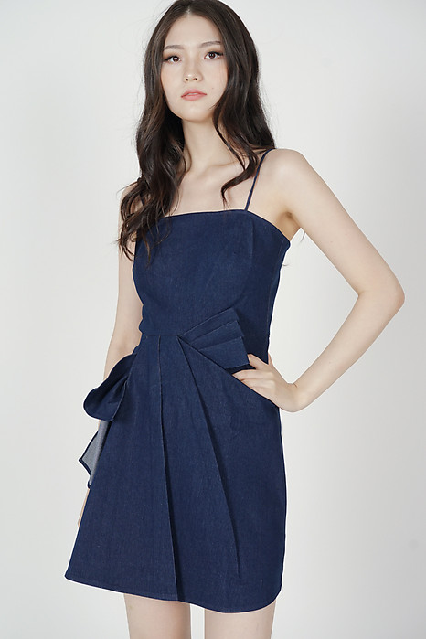 Bambi Denim Dress in Dark Blue - Arriving Soon