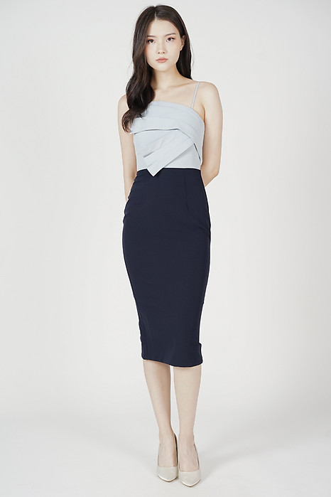 Kirsten Midi Dress in Ash Blue - Arriving Soon
