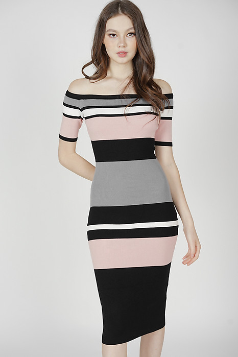 Alla Contrast Dress in Pink - Arriving Soon