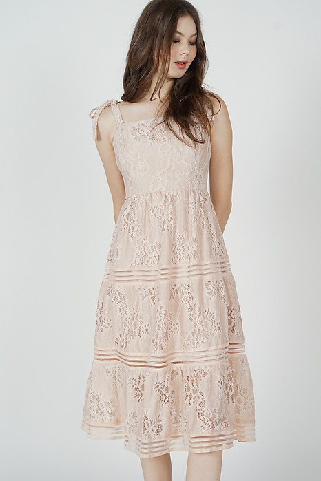 Balta Lace Dress in Pink - Arriving Soon
