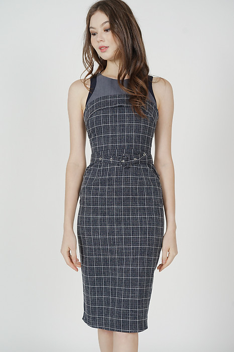 Olben Buckled Midi Dress Midnight - Arriving Soon