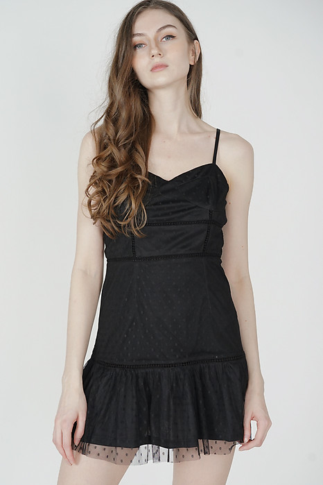 Yeva Tulle Dress in Black - Arriving Soon