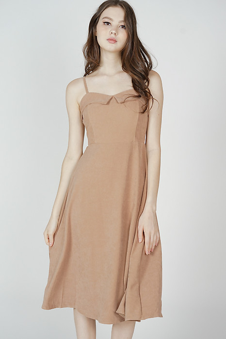 Jael Cami Dress in Beige - Online Exclusive