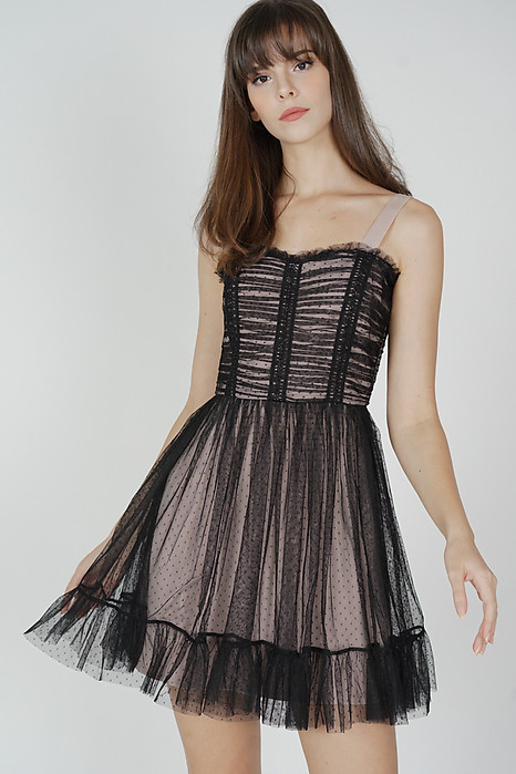 Diara Tulle Dress in Black - Arriving Soon