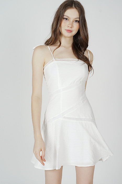 Vernette Crochet-Trimmed Dress in White - Arriving Soon