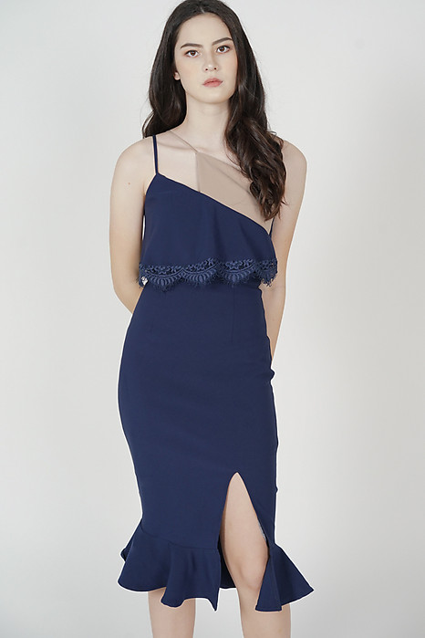 Jaysey Overlay Dress in Navy - Arriving Soon
