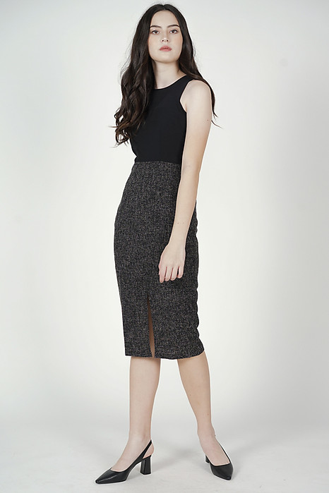 Heiken Midi Dress in Black - Arriving Soon