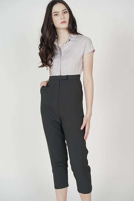 Jahnny Buttoned Jumpsuit in Grey - Arriving Soon