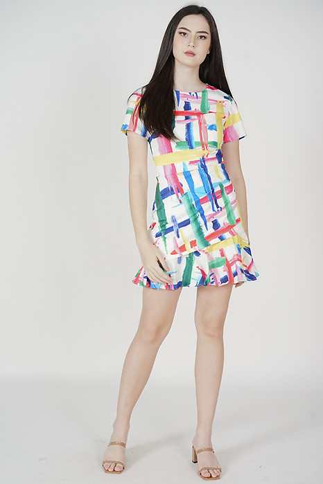 Heiden Abstract Dress in White - Arriving Soon