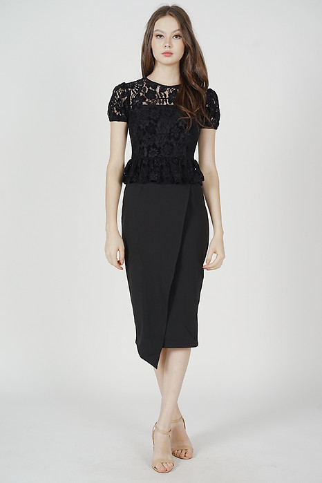 Calina Lace Dress in Black - Arriving Soon