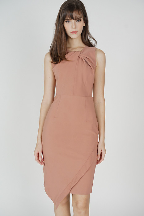 Dailey Midi Dress in Dark Nude - Arriving Soon