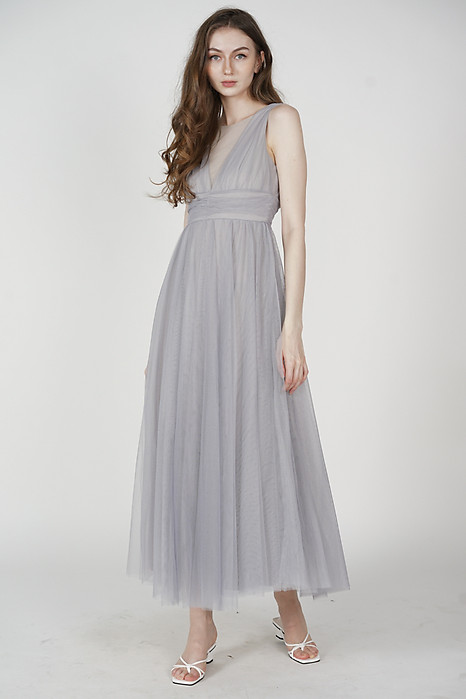 Yahto Tulle Dress in Ash Blue - Arriving Soon