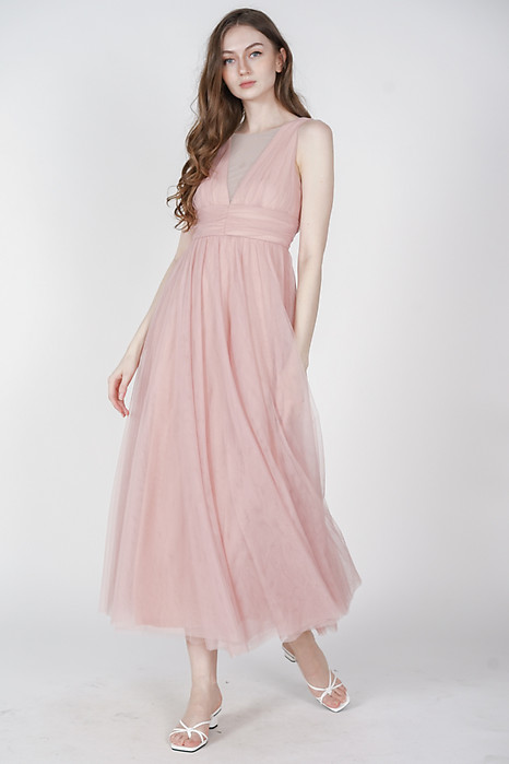 Yahto Tulle Dress in Pink - Arriving Soon